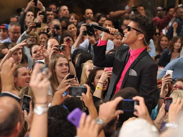Bruno Mars performs on NBC's 'Today' at Rockefeller Center on June 24, 2011 in New York City.