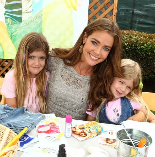 Denise Richards and daughters Sam and Lola at the 77kids By American Eagle 'Surfin' Safari' at A Time For Heroes Celebrity Carnival held at The Wadsworth Great Lawn on June 12, 2011 in Los Angeles, California.