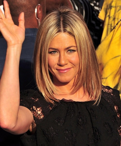 Jennifer Aniston leaves 'The Daily Show With Jon Stewart' on June 27, 2011 in New York City.