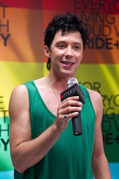 Two-time Olympic figure skater Johnny Weir poses for a photo at Macy's Metro Center on June 9, 2011 in Washington, DC.