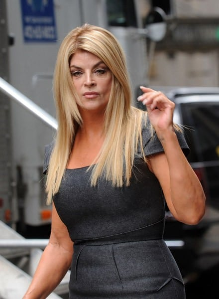 Kirstie Alley filming on location for 'Syrup' on the streets of Manhattan on June 26, 2011 in New York City.