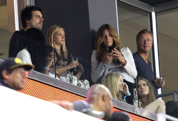 Kelly Bensimon attends the New England Revolution vs the New York Red Bulls match at Red Bull Arena on June 10, 2011 in Harrison, New Jersey.
