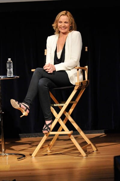 Actress Kim Cattrall speaks to actors in the SAG Foundation at the NYIT Auditorium on June 27, 2011 in New York City.