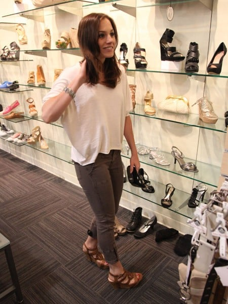 Songwriter/producer and former judge on 'American Idol' Kara DioGuardi is seen at Lester's Clothing Store on June 13, 2011 in New York City.