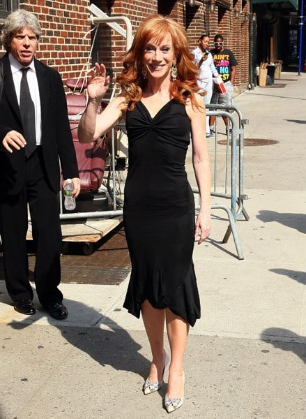 Comedian Kathy Griffin arrives at 'Late Show With David Letterman' at the Ed Sullivan Theater on June 7, 2011 in New York City.