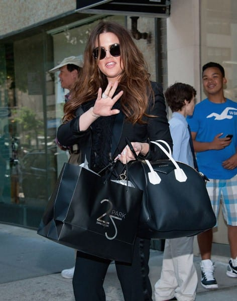 Reality TV star Khloe Kardashian shops at '25 Park' boutique on the Upper East Side on June 6, 2011 in New York City.