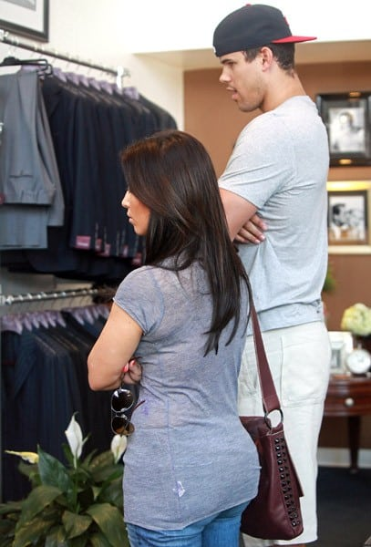 Kim Kardashian and Kris Humphries are seen shopping for their wedding at Sutor Mantellassi in Beverly Hills on June 15, 2011 in Los Angeles, California.