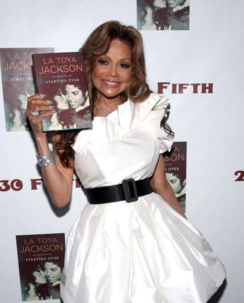La Toya Jackson attends Her Own Book Launch Party at 230 Fifth Avenue on June 20, 2011 in New York City.