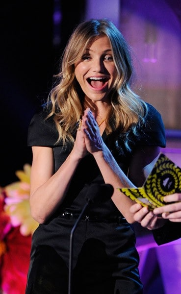 Cameron Diaz onstage during the 2011 MTV Movie Awards at Universal Studios' Gibson Amphitheatre on June 5, 2011 in Universal City, California.