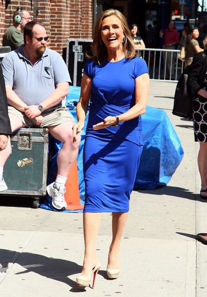 Television Personality Meredith Vieira arrives at 'Late Show With David Letterman' at the Ed Sullivan Theater on June 6, 2011 in New York City.