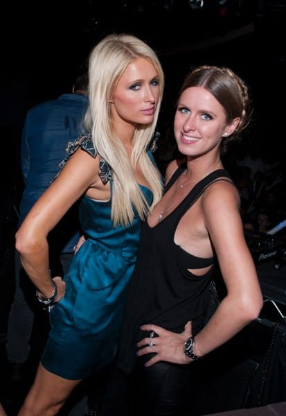 Paris Hilton and Nicky Hilton attend DJ Tiesto Pre Electric Daisy Carnival Performance at Playhouse Hollywood on June 22, 2011 in Los Angeles, California.