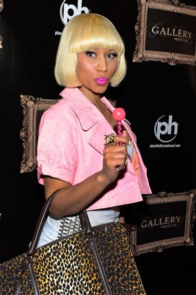 Singer Nicki Minaj visits the Gallery Nightclub at the Planet Hollywood Resort & Casino on June 25, 2011 in Las Vegas, Nevada.