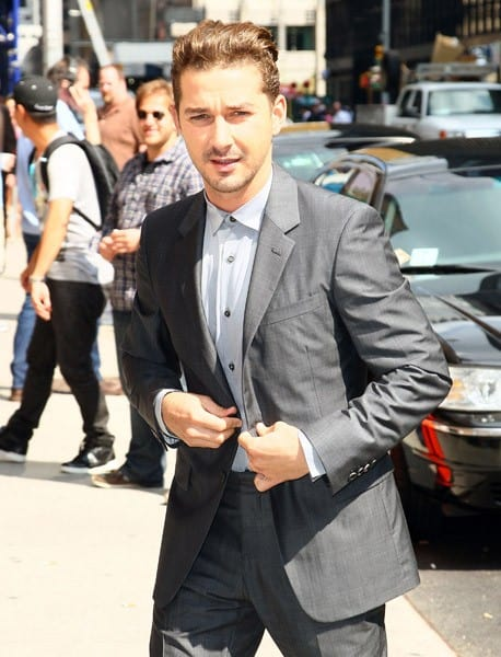 Shia LaBeouf arrives to 'Late Show With David Letterman' at the Ed Sullivan Theater on June 27, 2011 in New York City.