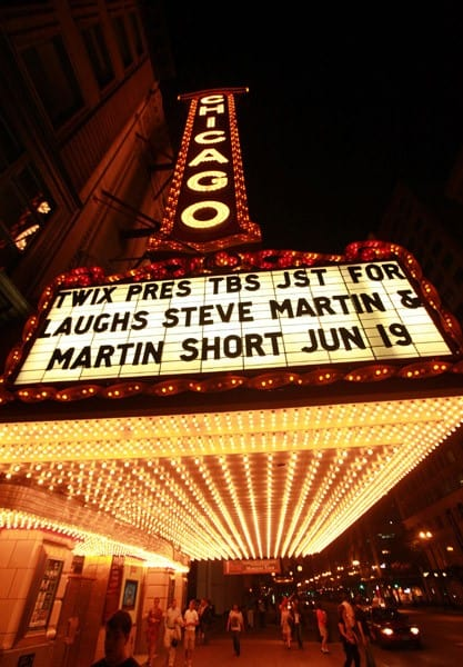 Martin Short and Steve Martin in a Very Stupid Conversation at the Chicago Theatre during Twix Presents TBS Just For Laughs Chicago June 18, 2011 in Chicago, Illinois.