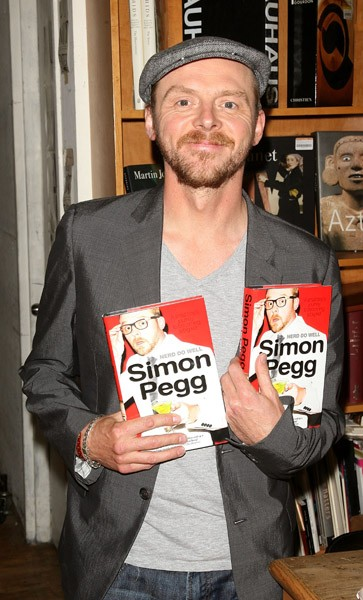 Simon Pegg promotes 'Nerds Do Well' at the Strand Bookstore on June 13, 2011 in New York City.