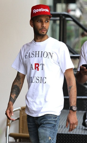 Swizz Beatz is seen walking in SoHo on June 7, 2011 in New York City.