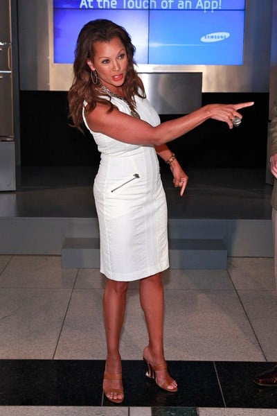Actress Vanessa Williams attends the Samsung Touchscreen Refrigerator launch at Time Warner Center on June 21, 2011 in New York City.