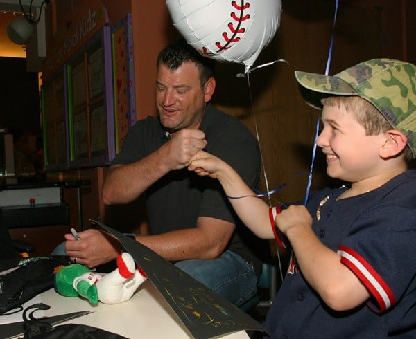 Will Ohman visits patients at Children's Hospital Boston on May 31, 2011 in Boston, Massachusetts.