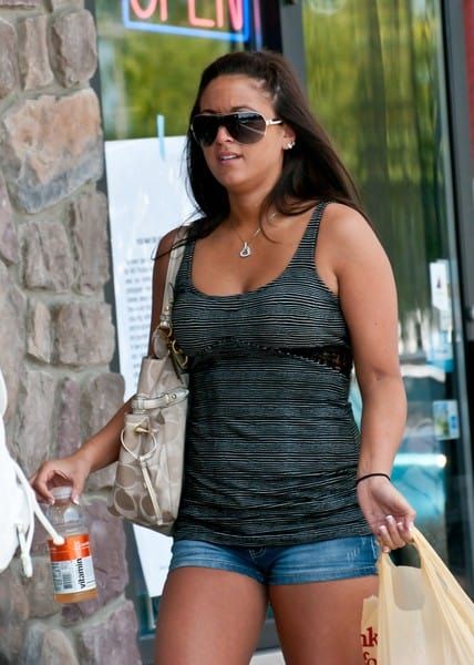 Jenni 'JWoww' Farley and Sammi 'Sweetheart' Giancola Filming on Location for 'Jersey Shore' at Ocean Terrace in Seaside Heights, New Jersey on July 5, 2011