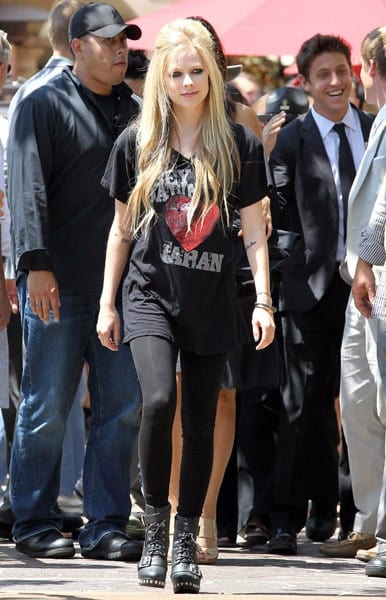 Avril Lavigne is seen at The Grove on July 12, 2011 in Los Angeles, California.