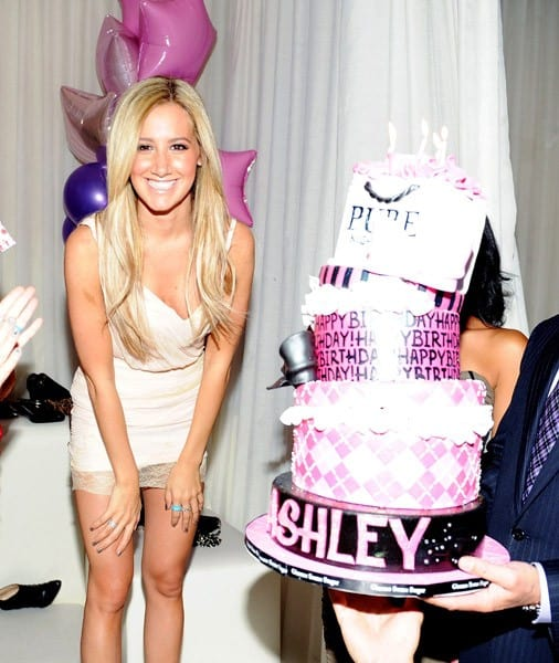Ashley Tisdale celebrates her 26th birthday at Pure Nightclub on July 15, 2011 in Las Vegas, Nevada.