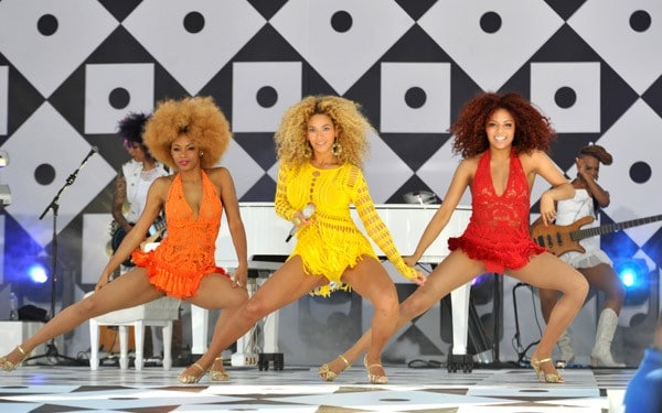 Beyonce performs on ABC's 'Good Morning America' at Rumsey Playfield, Central Park on July 1, 2011 in New York City.