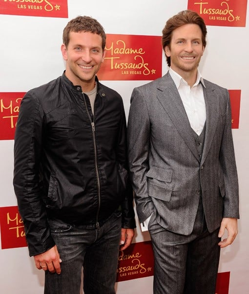 Actor Bradley Cooper poses with his wax figure during the unveiling of his wax figure for Madame Tussauds Las Vegas on July 18, 2011 in Nevada.