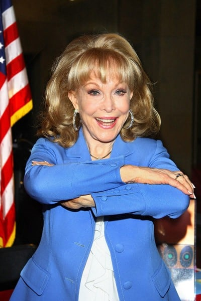 Actress Barbara Eden signs copies of her book 'Jeannie Out Of The Bottle' at the Egyptian Theatre on July 28, 2011 in Hollywood, California.