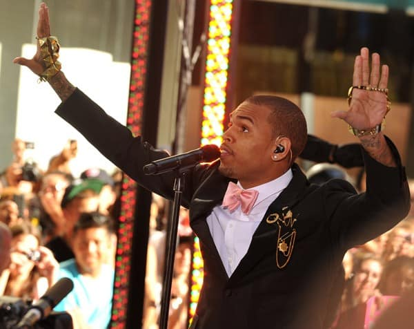 Chris Brown performs on NBC's 'Today' at Rockefeller Plaza on July 15, 2011 in New York, United States.
