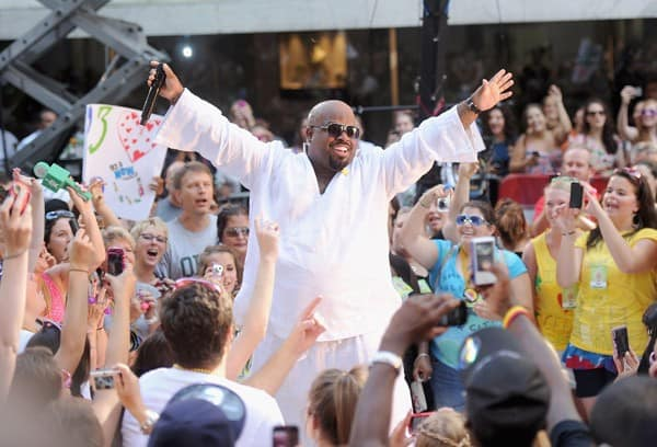 Musician Cee Lo Green performs on NBC's 'Today' at Rockefeller Center on July 22, 2011 in New York City.