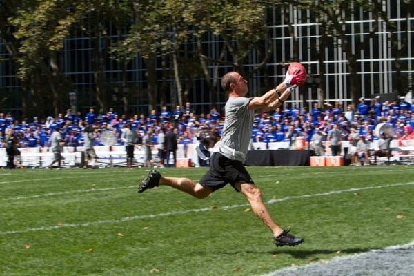 Chris Meloni during the Madden NFL 12 Pigskin Pro-Am in Bryant Park on July 27, 2011 in New York City.