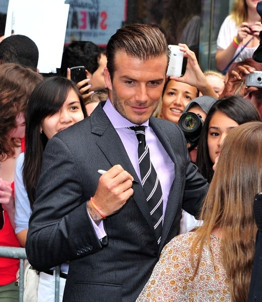 David Beckham visits ABC's 'Good Morning America' in Times Square on July 25, 2011 in New York City.