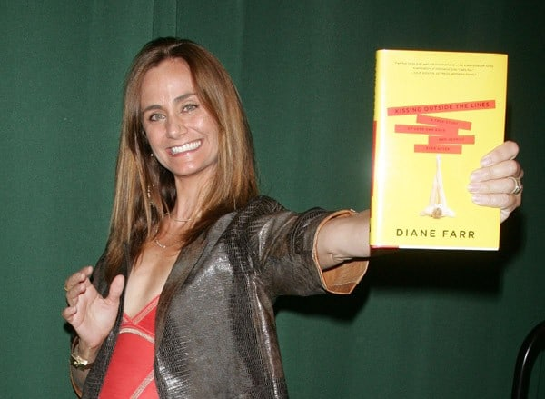 Diane Farr promotes 'Kissing Outside the Lines' at Barnes & Noble Tribeca on July 6, 2011 in New York City.