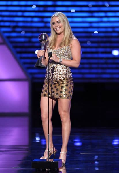 Skier Lindsey Vonn attends The 2011 ESPY Awards held at the Nokia Theatre L.A. Live on July 13, 2011 in Los Angeles, California.
