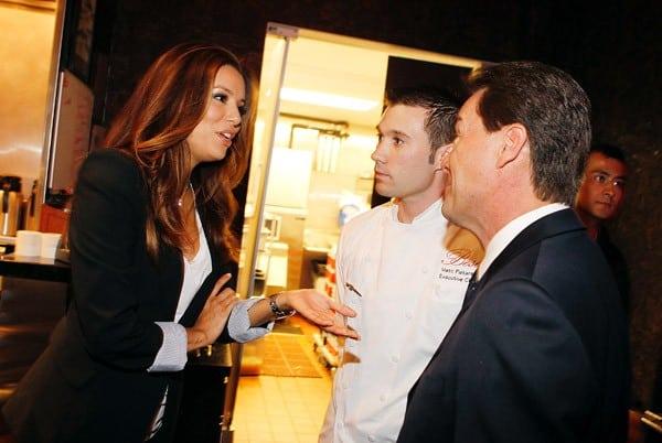 Eva Longoria dines at Beso restaurant at Crystals in CityCenter on July 27, 2011 in Las Vegas, Nevada.