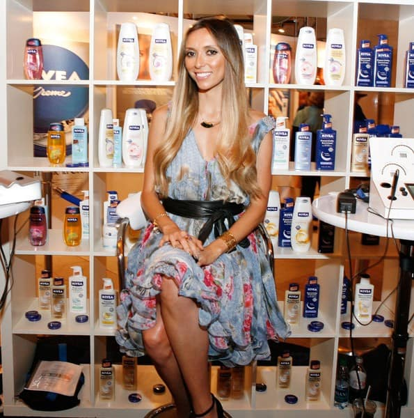 Guliana Rancic attends the NIVEA 100 Year House preview party at Vanderbilt Hall at Grand Central Terminal on July 25, 2011 in New York City.