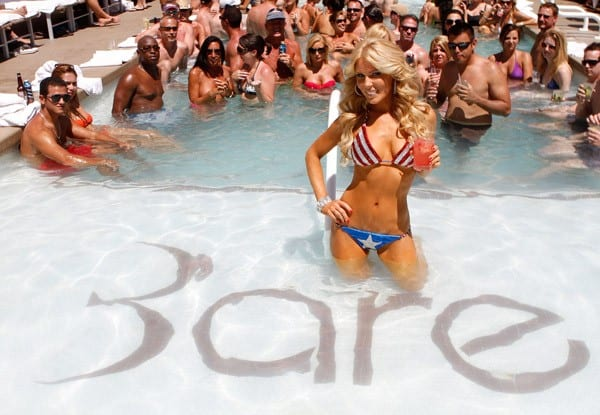 Gretchen Rossi hosts a pool party at Bare pool lounge at The Mirage Hotel and Casino on July 2, 2011 in Las Vegas, Nevada.