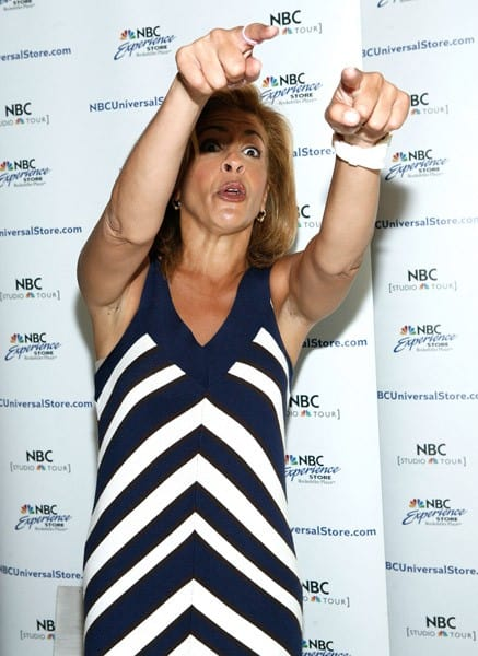 Hoda Kotb promotes 'Hoda: How I Survived War Zones, Bad Hair, Cancer, and Kathie Lee' at NBC Experience Store on July 22, 2011 in New York City.