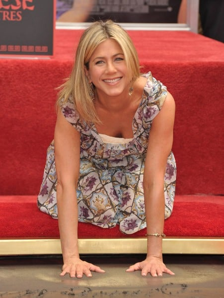 Actress Jennifer Aniston is honored with a Hand And Footprint Ceremony at Grauman's Chinese Theatre on July 7, 2011 in Hollywood, California.
