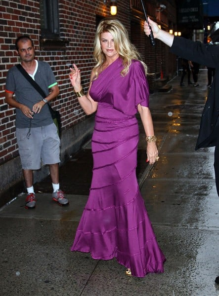 Actress Kirstie Alley arrives to 'Late Show With David Letterman' at the Ed Sullivan Theater on July 25, 2011 in New York City.