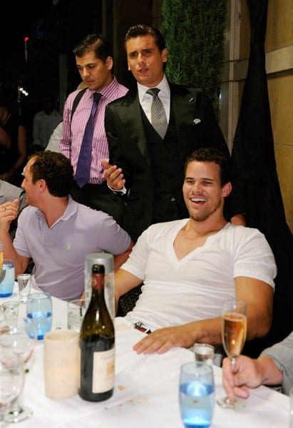 NBA player Kris Humphries attends his bachelor party at the Lavo Nightclub at The Palazzo on July 23, 2011 in Las Vegas, Nevada.
