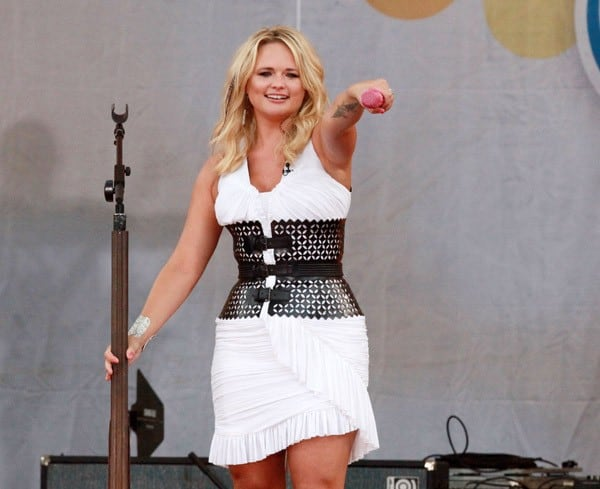 Miranda Lambert performs on ABC's 'Good Morning America' at Rumsey Playfield, Central Park on July 8, 2011 in New York City.