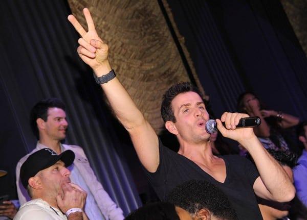 Singer Joey McIntyre of New Kids on the Block performs at the New Kids on the Block official after party at Chateau Nightclub & Gardens at Paris Las Vegas on July 3, 2011 in Las Vegas, Nevada.