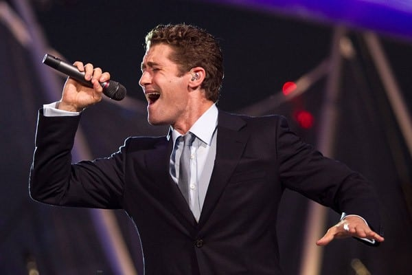 Matthew Morrison performs during rehearsal for the annual PBS 'A Capitol Fourth' concert at the US Capitol on July 3, 2011 in Washington, DC.