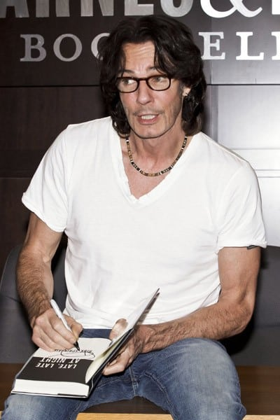 Rick Springfield signs copies of his new book 'Late, Late At Night' at Barnes & Noble Bookstore at The Grove in Los Angeles, California on July 19, 2011.