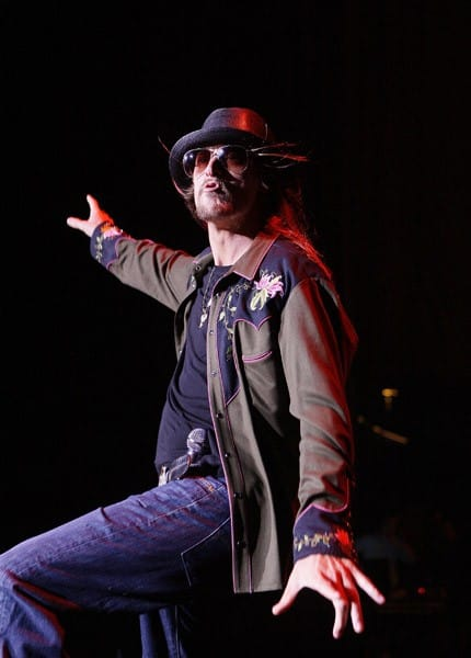 Kid Rock performs at the Shoreline Amphitheatre on July 29, 2011 in Mountain View, California.