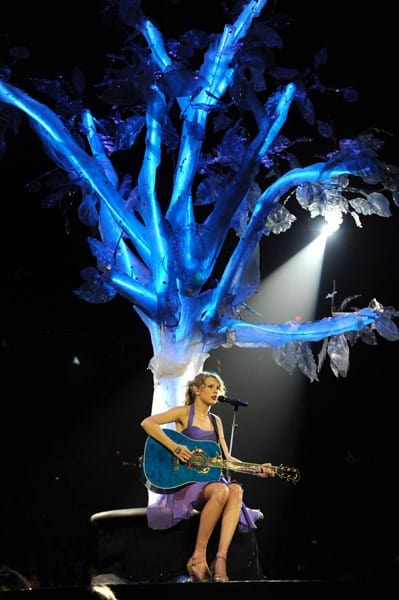 Taylor Swift performs during her 'Speak Now' tour at the Prudential Center on July 24, 2011 in Newark, New Jersey.