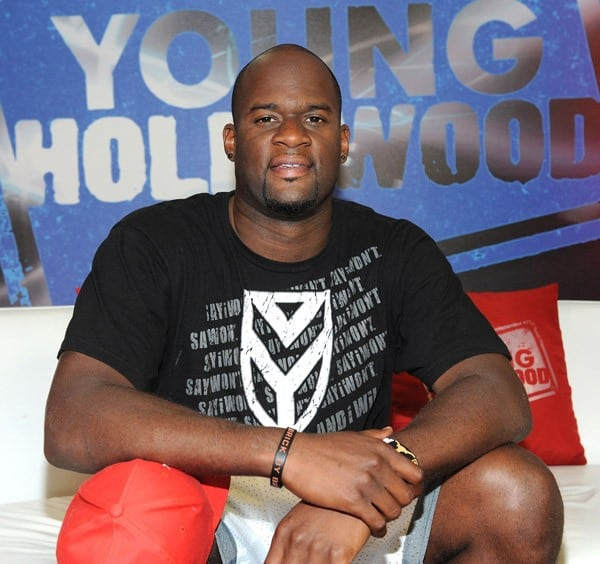 Professional football player Vince Young visits YoungHollywood.com at Young Hollywood Studio on July 6, 2011 in Los Angeles, California.