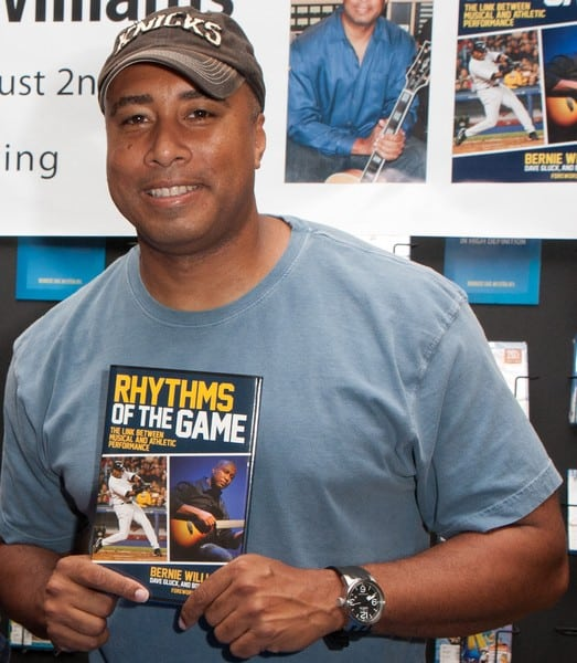 Bernie Williams' 'Rhythms of the Game: The Link Between Musical and Athletic Performance' Book Signing at Barnes & Noble in White Plains, New York on August 2, 2011