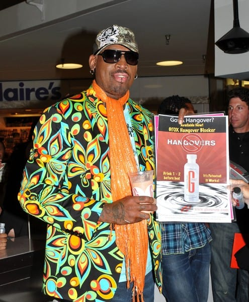 Dennis Rodman Launches His 'Gtox' Milkshake at Millions of Milkshakes in Culver City, California on August 5, 2011